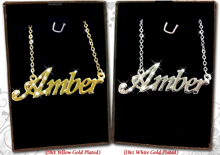 NAME NECKLACE 18k Gold Plated Jewellery Gifts Personalised Fashion ...