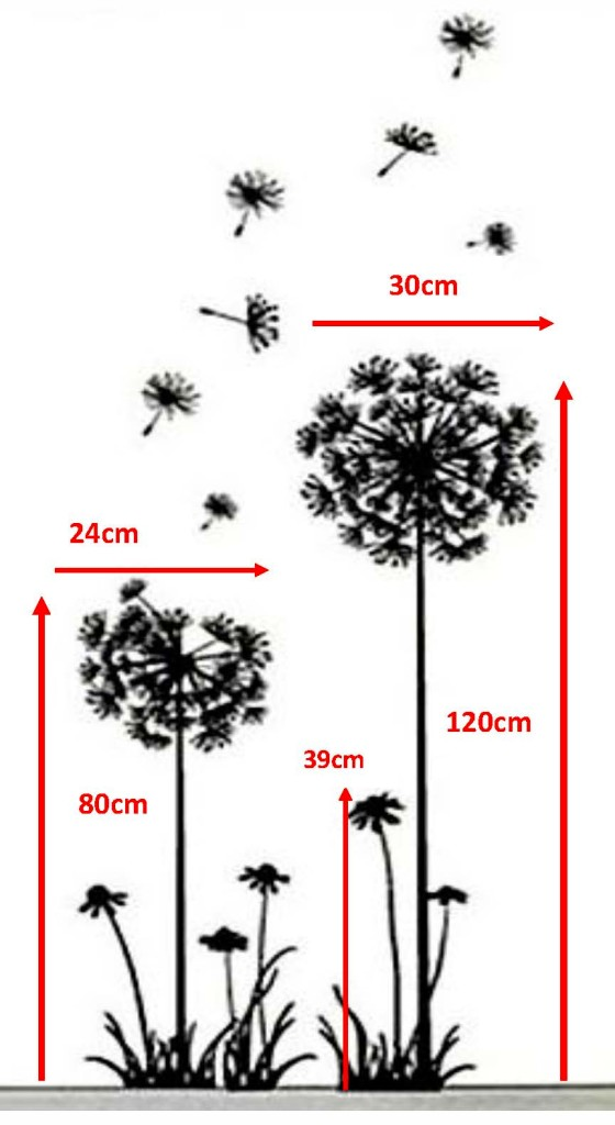 Dandelion Metal Wall Decor : Dandelion flower wall art sticker decor stickers decals