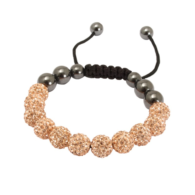 Celebrity Style Beads: Celebrity Style Shamballa Bracelet Crystal Beads Balls