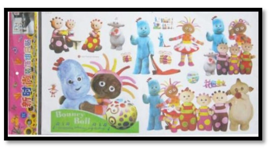 wall stickers ebay in the night garden wall stickers babysecurity