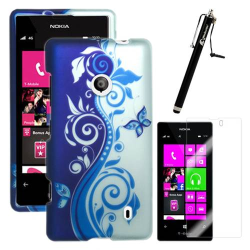 Nokia Lumia 521 Hard Snapon Rubberized Matte Snap On Case Cover Protector Guard