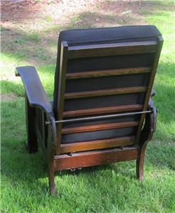 ANTIQUE MISSION OAK MORRIS CHAIR VICTORIAN RECLINER EBay & Antique Morris Recliner Chair Voorhees Craftsman Mission Oak ...