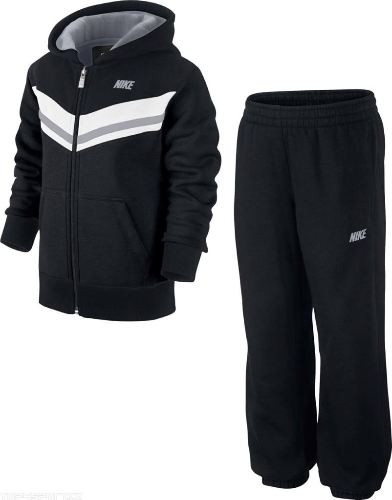 Nike-Little-Boys-Kids-Black-Hooded-Full-Zip-Fleece-Tracksuit-Age-5-8-Years