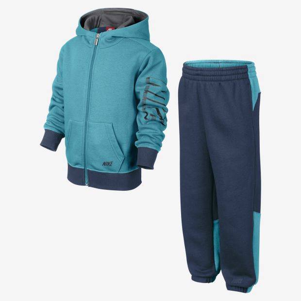 Nike-Boys-Kids-Blue-Hooded-Full-Zip-Fleece-Tracksuit-Age-5-8-Years