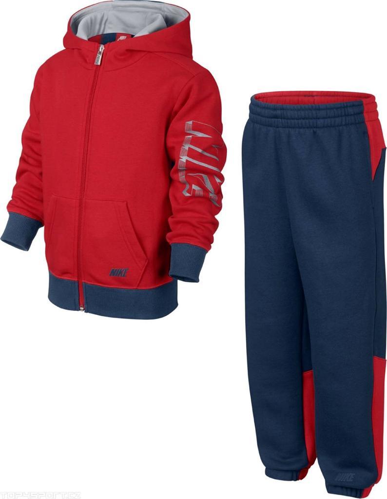 Nike-Boys-Kids-Red-Navy-Hooded-Full-Zip-Fleece-Tracksuit-Age-3-8-Years