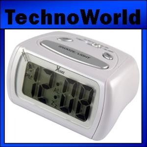 Brand New Xtime Lcd Alarm Clock Black White Oz Stock Ebay