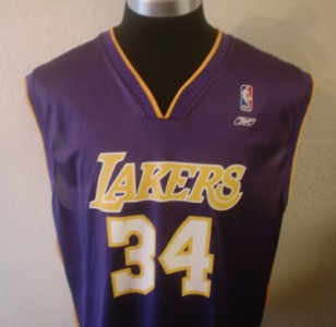 PURPLE SHAQ SHAQUILLE ONEAL LOS ANGELES LAKERS JERSEY 2XL/XXL
