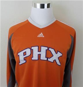 Mens Sewn Adidas Phoenix Suns Warm Up Shooting Shirt