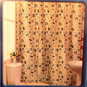 New Disney Mickey Minnie Mouse Polyester Shower Curtain