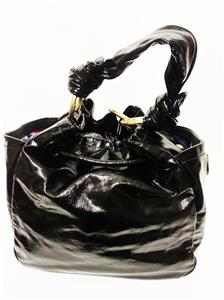 coach gray patent leather handbag  coach resort