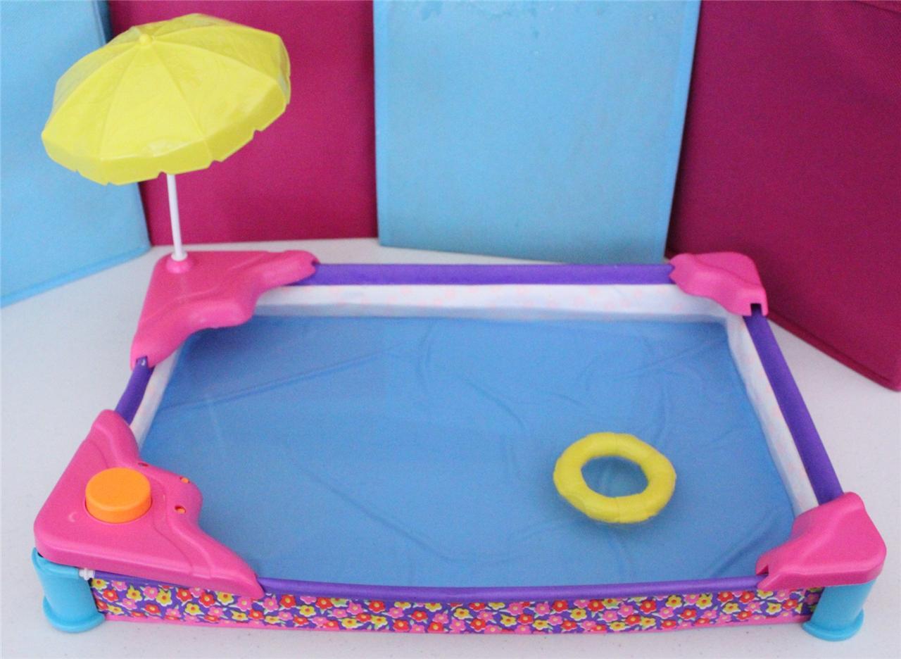 Barbie Spray Play Swimming Pool Beach Patio Vintage Dollhouse Arco Mattel 1991 Ebay