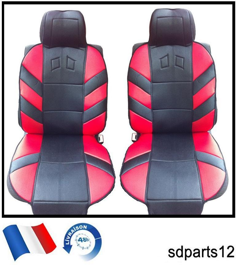 housses coussin couvre sieges rouge noir pour citroen c2 saxo c3 c6 c5 xm zx ebay. Black Bedroom Furniture Sets. Home Design Ideas