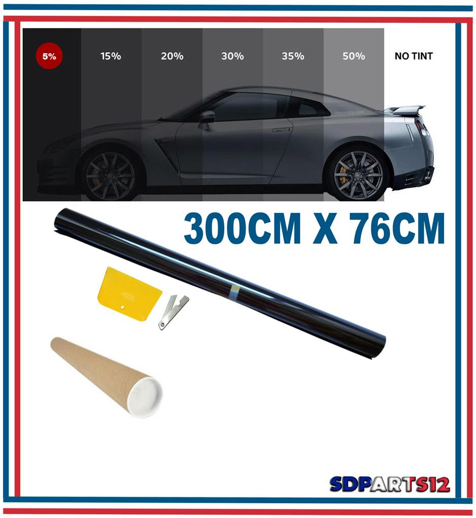 3m 76cm film teinte solaire noir pour vitre fen tre velux for Film plastique noir pour bassin