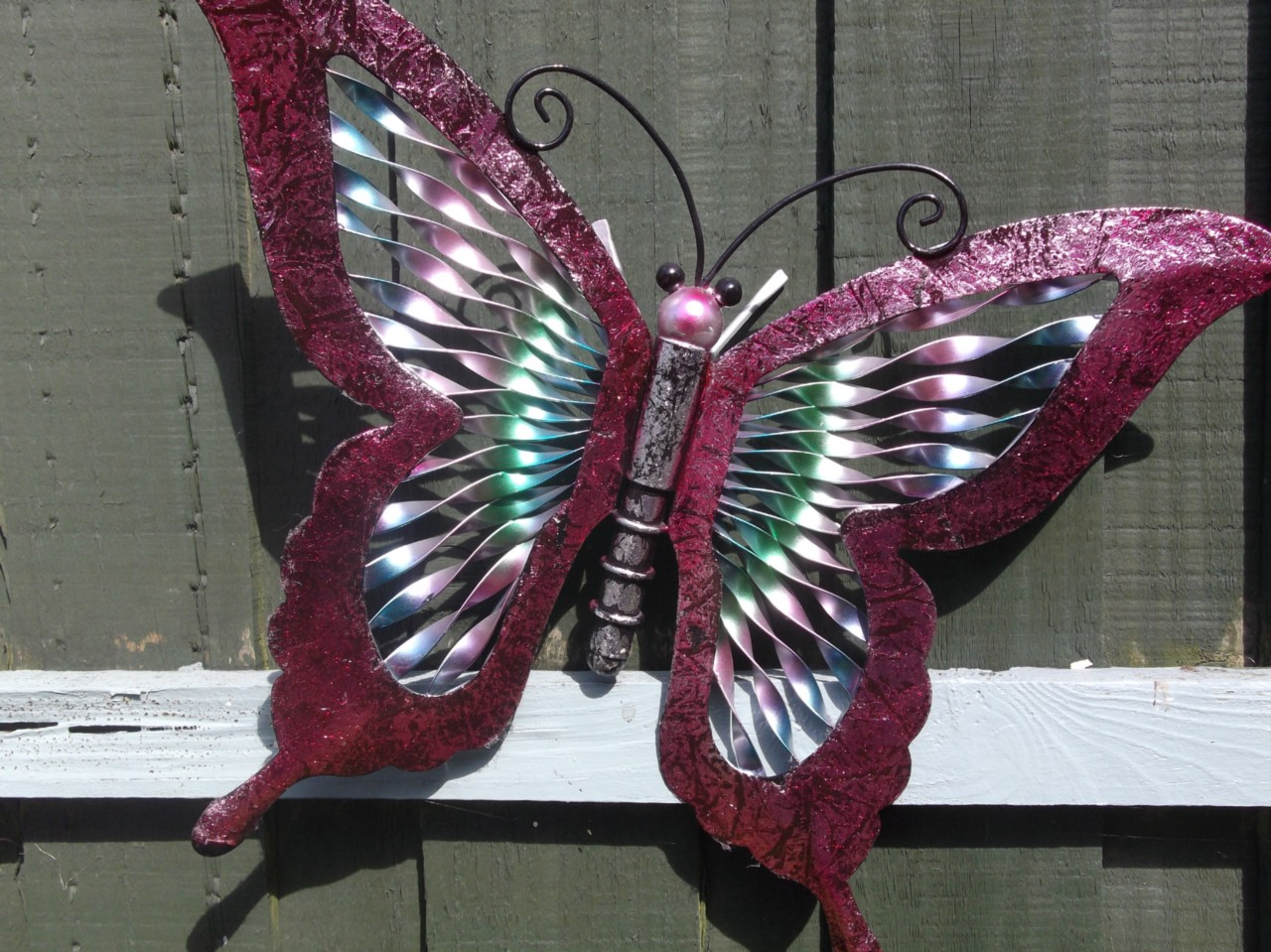 Butterfly garden ornaments butterfly garden wall art three for Outdoor butterfly ornaments