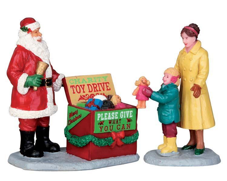 Lemax christmas village figurines santa