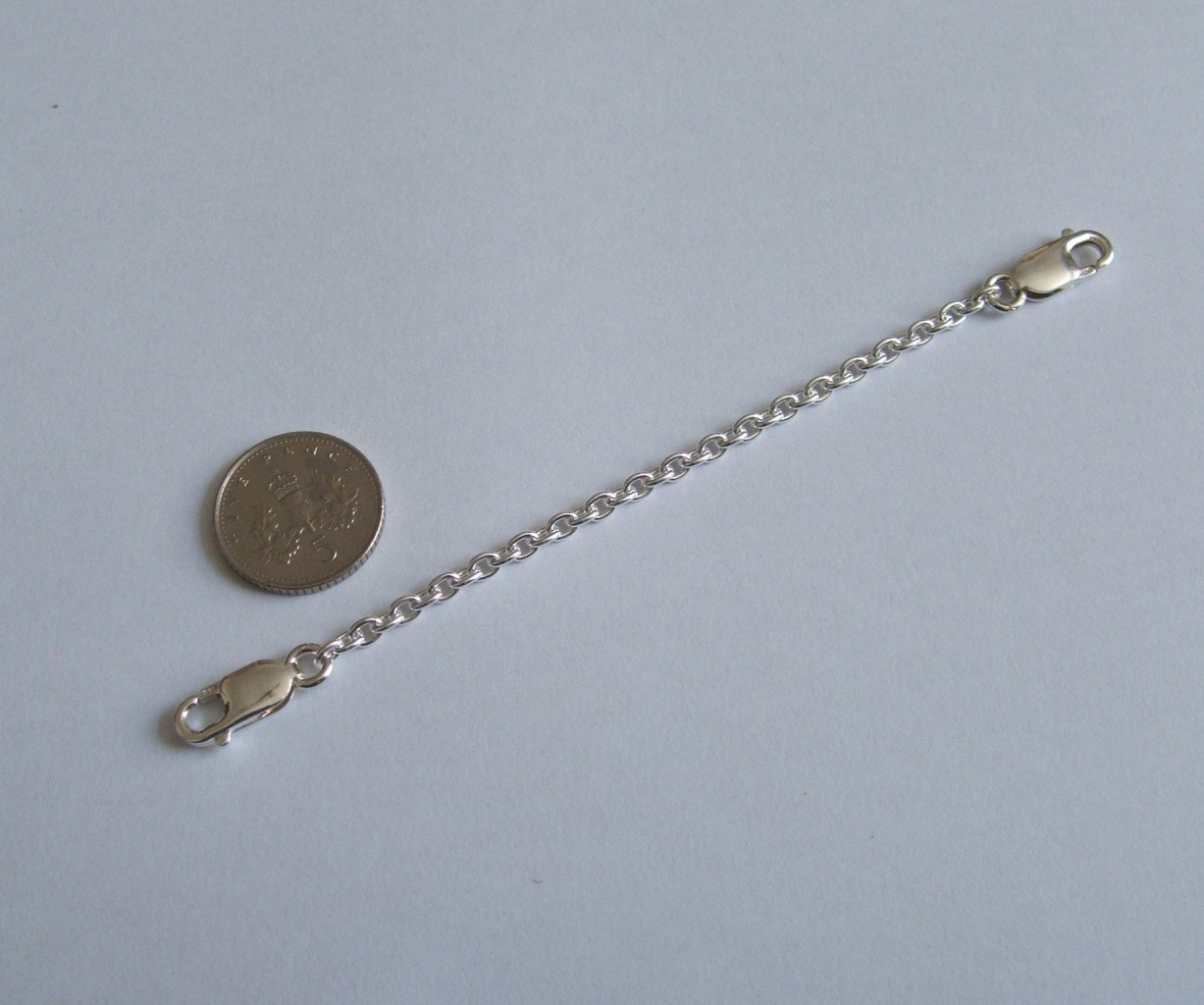 Heavy Sterling Silver necklace extender safety chain two Quality Lobster clasps | eBay