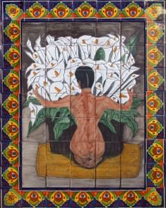 Mexican Talavera Tiles Hand Painted Mosaic Tile Mural Ebay