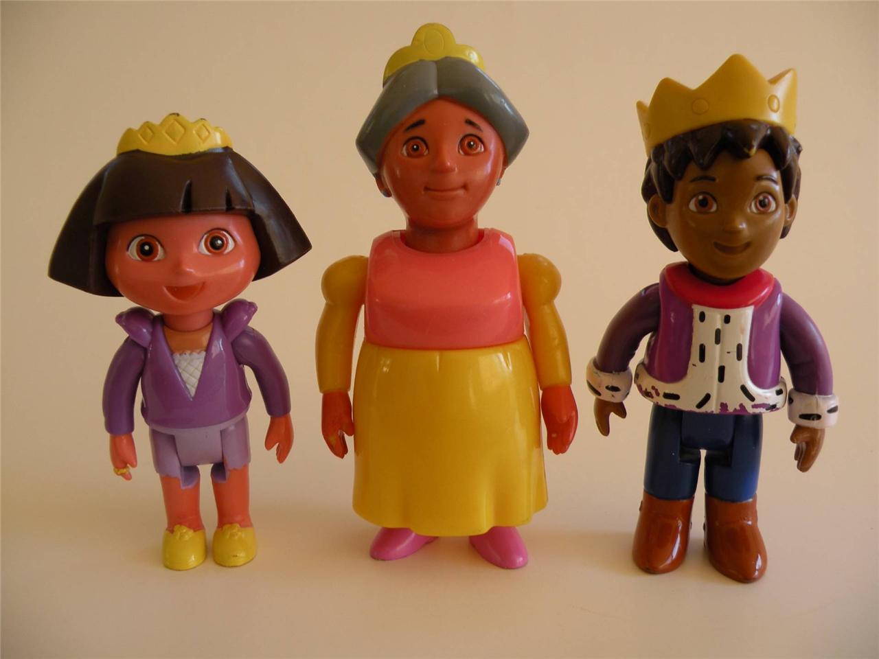 Dora the explorer princess dora prince diego abuela castle magical figures ebay - Princesse dora ...