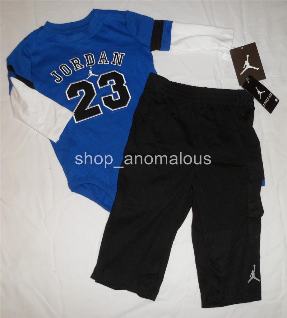 NWT NIKE Air JORDAN Baby Boy Bodysuit Romper Pants Outfit