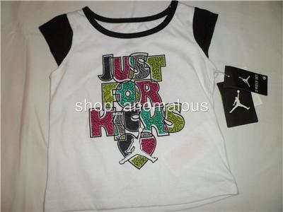 Nike Air Jordan Baby Girls Shirt Shorts Skirt Outfit Clothes Set Sz 12M 12 M