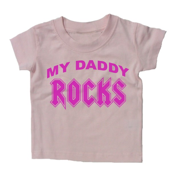 Baby Shirt Daddy Rocks Funny Slogan Kids Gift