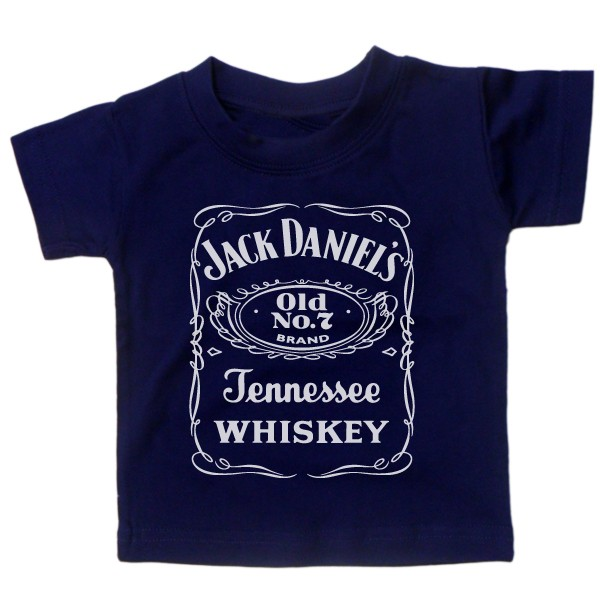 Baby-T-shirt-039-JACK-DANIEL-039-S-WHISKY-039-BOY-GIRL-ROCK-GIFT-FATHERS-DAY-CUTE-JD
