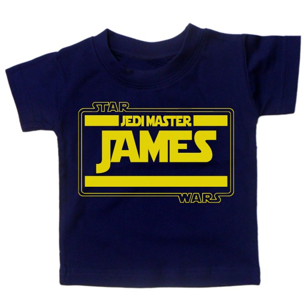 Baby-T-Shirt-BOYS-PERSONALISE-WITH-NAME-STARWARS-Movie-Tee-Slogan-Custom-Gift