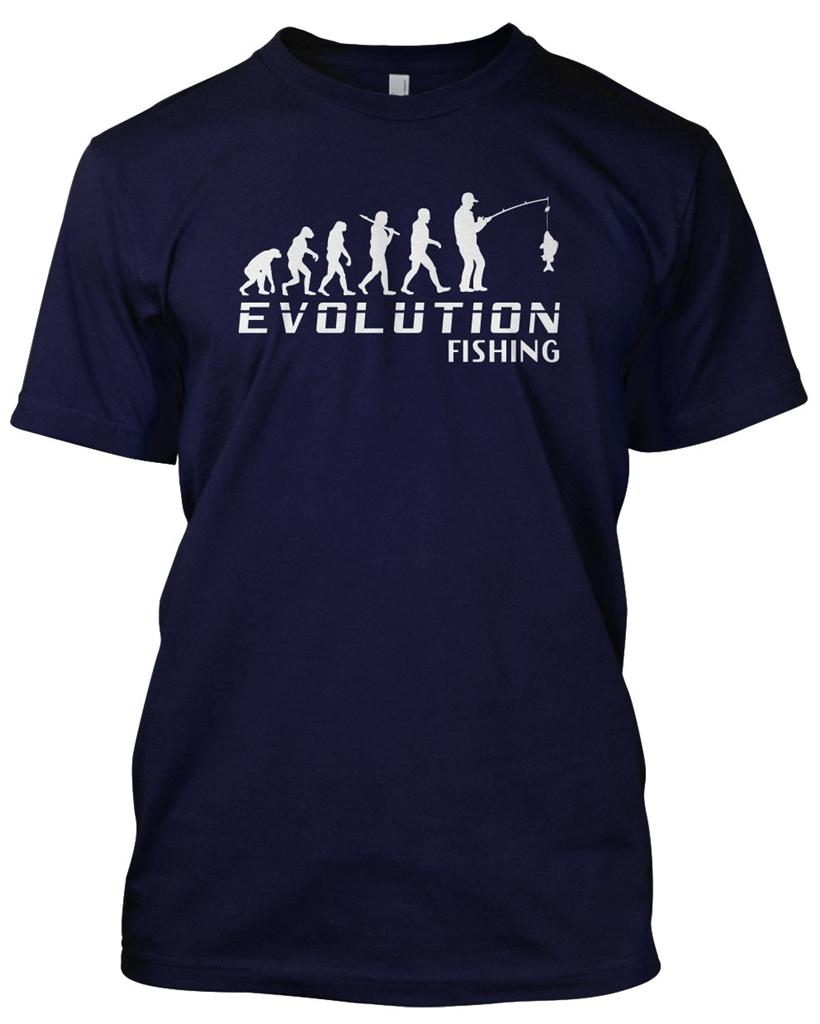 'EVOLUTION FISHING' T-Shirt Mens Unisex Christmas Gift ...