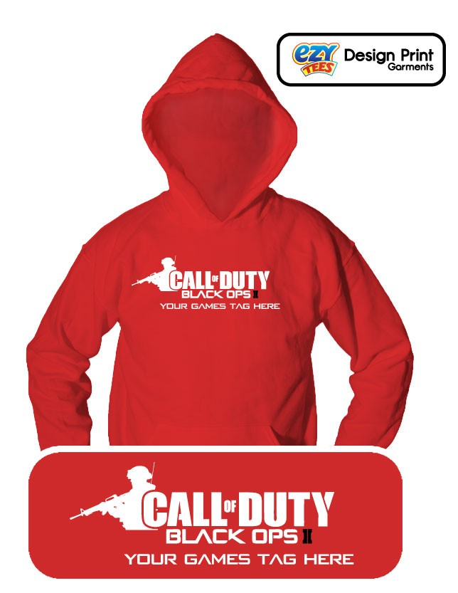 CALL-OF-DUTY-Black-Ops-2-HOODIE-PERSONALISE-WITH-GAMES-TAG-Xbox-PS3-MENS-KIDS