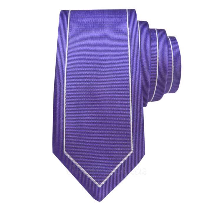 Purple & Silver Outline Vintage Skinny Tie