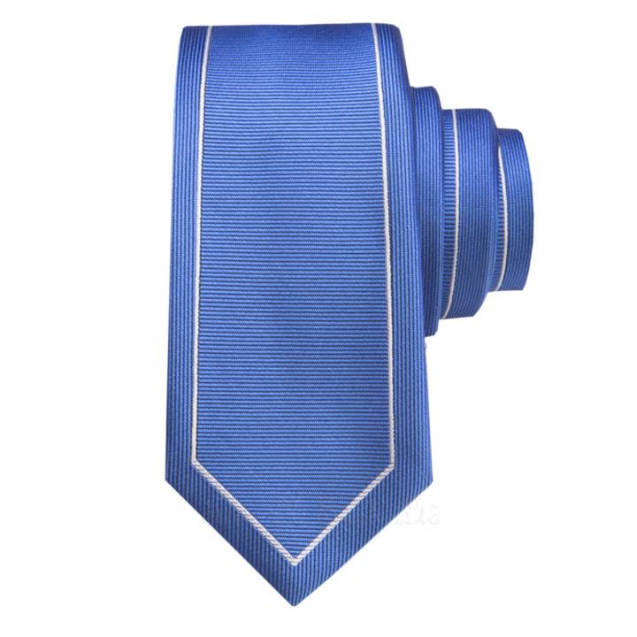 Blue with Silver Outline Vintage  Skinny Tie