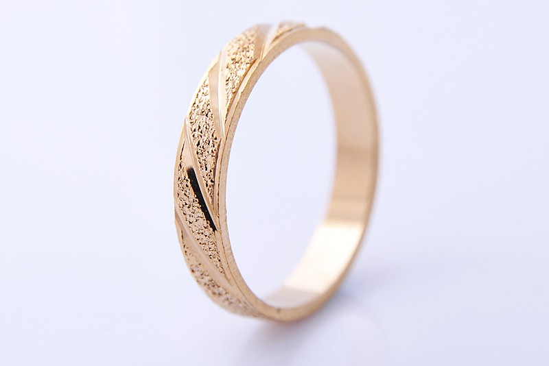 14k yellow gold filled mens wedding band 4mm wide