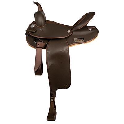 NEW-Wintec-Western-Barrel-Saddle-with-semi-QH-bars-Brown