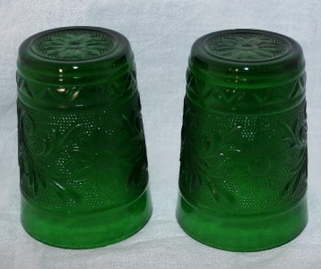 Forest Green Anchor Hocking 40s, 50s, 60s Glassware Glass Pottery