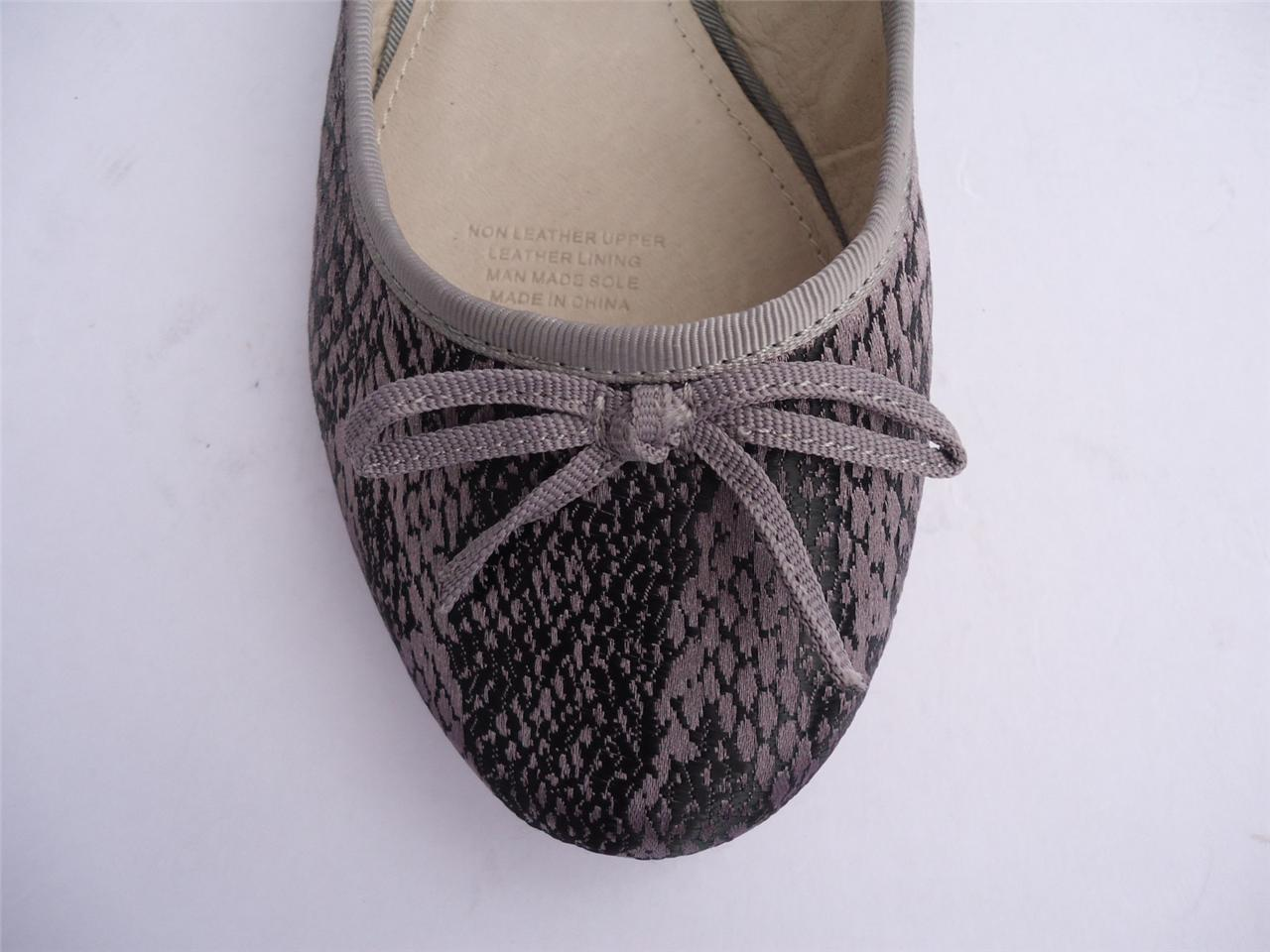 New-Ladies-Women-Diana-Ferrari-Shoe-Ballet-Flat-Grey-Black-Sz-5-6-7-8-9-10-11