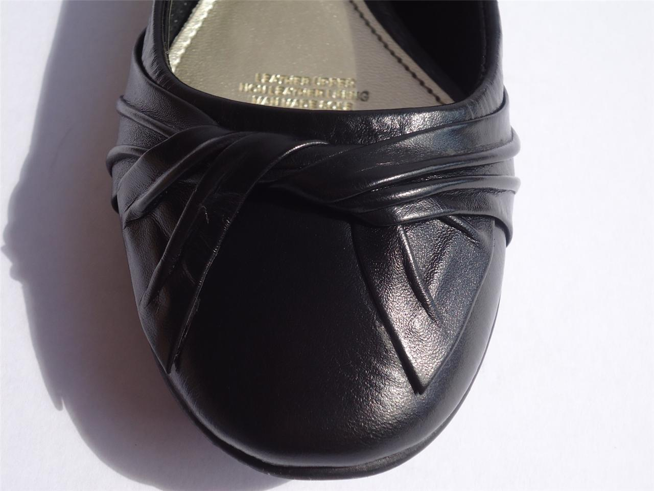 New-Womens-Diana-Ferrari-Leather-Shoe-Work-Ballet-Flat-Black-Sz-6-7-8-9-10-11-12