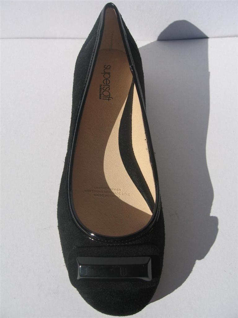 New-Womens-Leather-Supersoft-Diana-Ferrari-Shoe-Work-Flat-Black-Sz-6-7-8-9-10-11