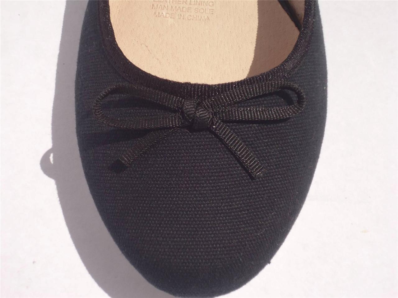 New-Women-Ladies-Diana-Ferrari-Canvas-Shoe-Work-Flat-Black-Size-6-7-8-9-10-11