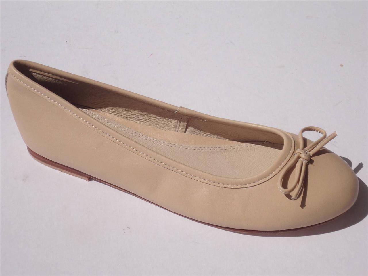 New-Women-Ladies-Diana-Ferrari-Leather-Shoe-Work-Flat-Natural-Size-6-7-8-9-10-11