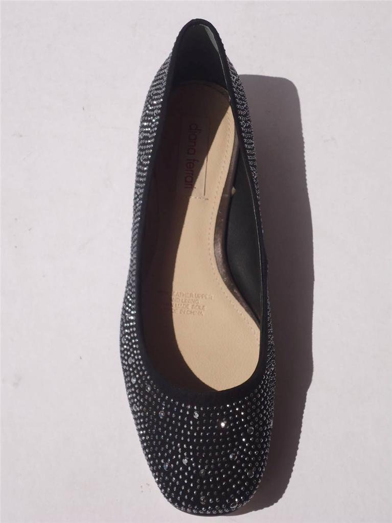 New-Womens-Diana-Ferrari-Shoe-Work-Dress-Ballet-Flat-Black-Size-6-7-8-9-10-11