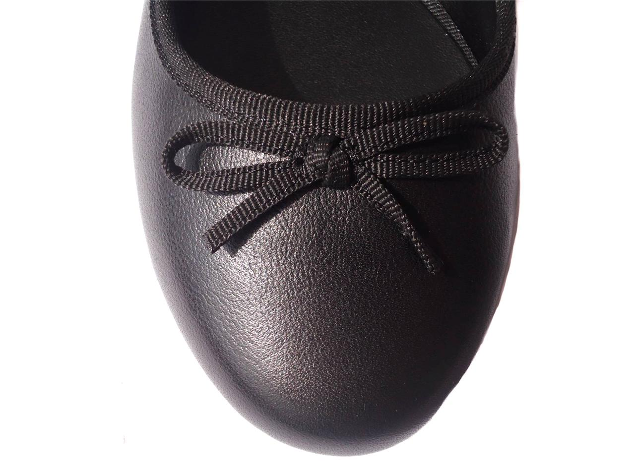 New-Women-Ladies-Diana-Ferrari-Leather-Shoe-Work-Flat-Black-Size-6-7-8-9-10-11