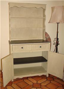 Vintage Shabby Chic Welsh Dresser Storage Display Cabinet Painted In Annie Sloan Ebay
