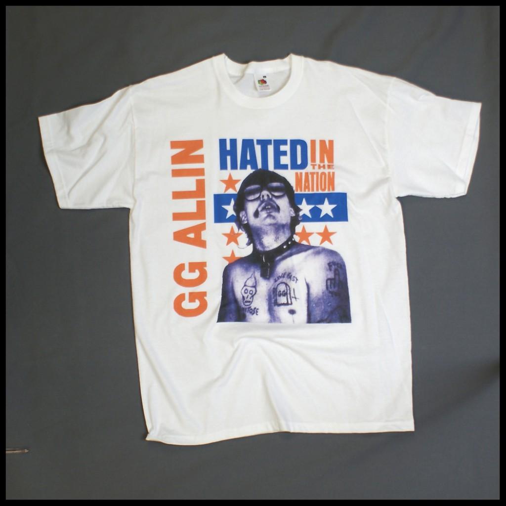 Gg allin metal punk rock festival t shirt white s xxxl ebay
