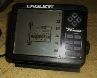 Eagle Ultra Classic Depth Fish Finder W Bracket Transducer