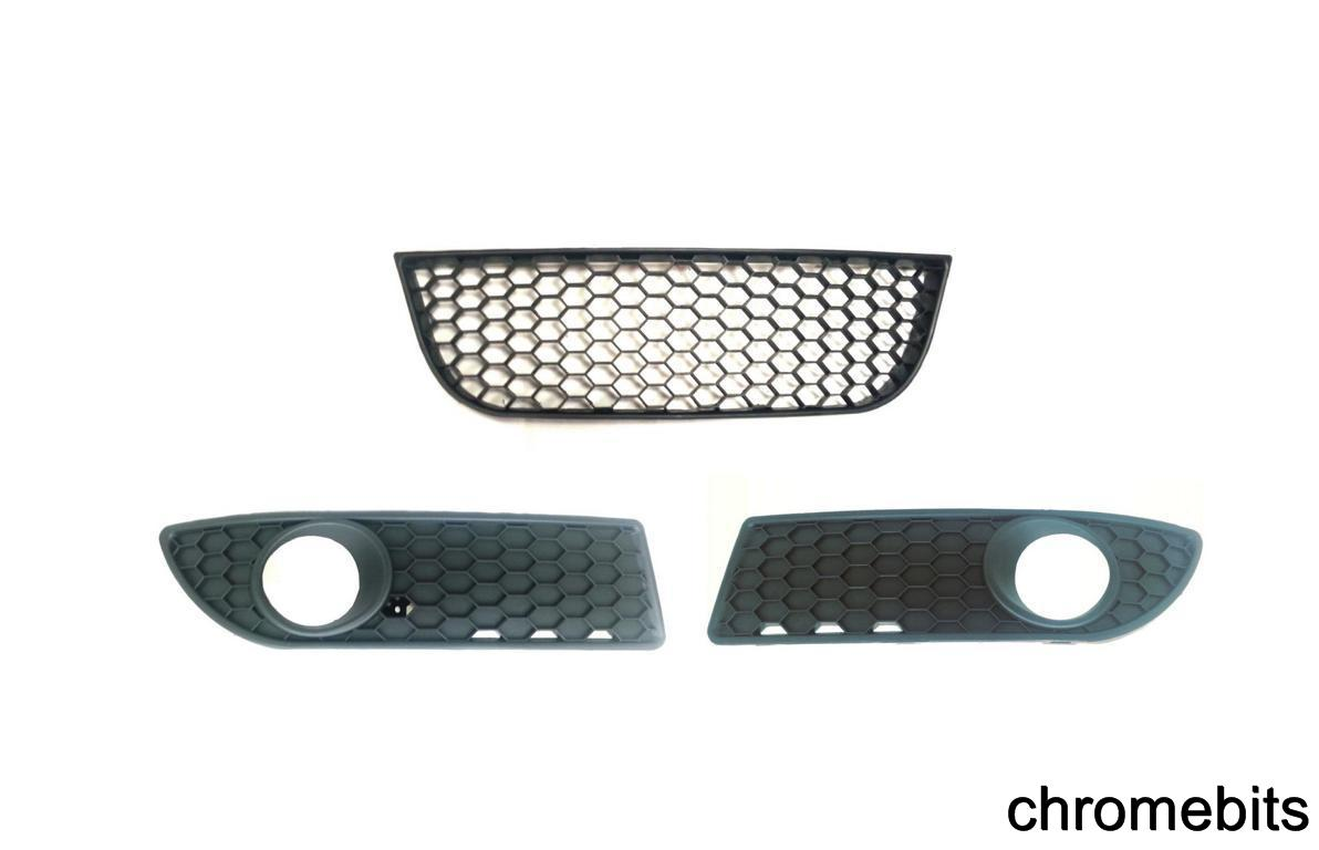 vw polo gti 9nr 6n2 grill set fog covers mesh and bumper. Black Bedroom Furniture Sets. Home Design Ideas