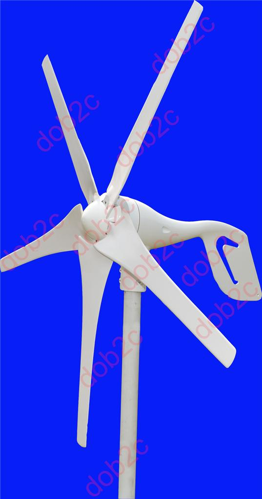 GIGU Wind Turbine Generator 550W Max 12V/24V 3/5 Blades Windmill 3-phase AC PM