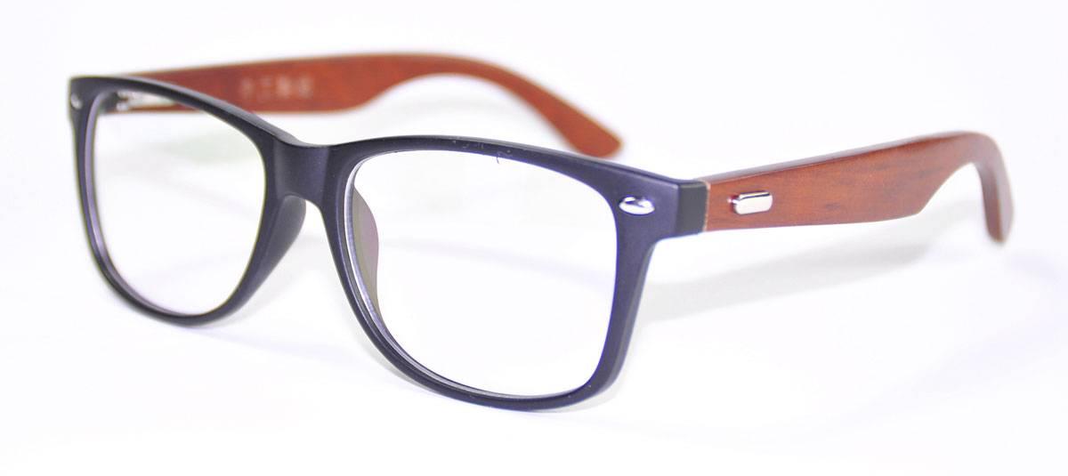 Glasses Frames Wide Faces : Fashion Mens Wooden Glasses Frame Oversized Eyeglasses ...