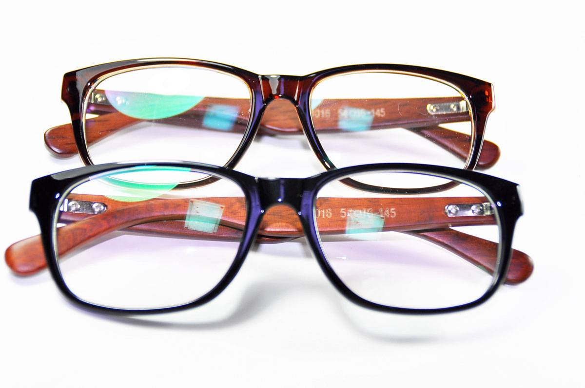 New Mens Womens Wooden Eyeglasses Frames Rx Spectacles ...