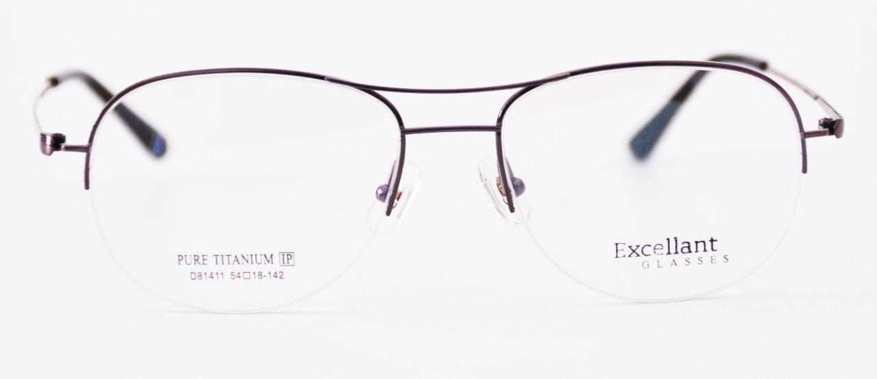 Vintage Mens Half Rimless Titanium Eyeglass Frames Aviator ...