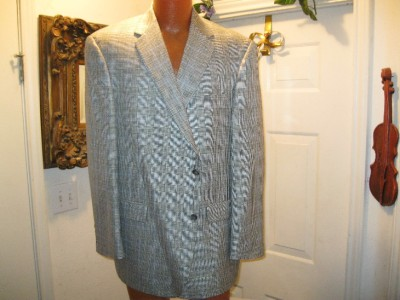 Mens Fashion Suitsblazer on Marx Sport Coat Size 46r Mens Plaid Blazer Suit Jacket Big 46r   Ebay